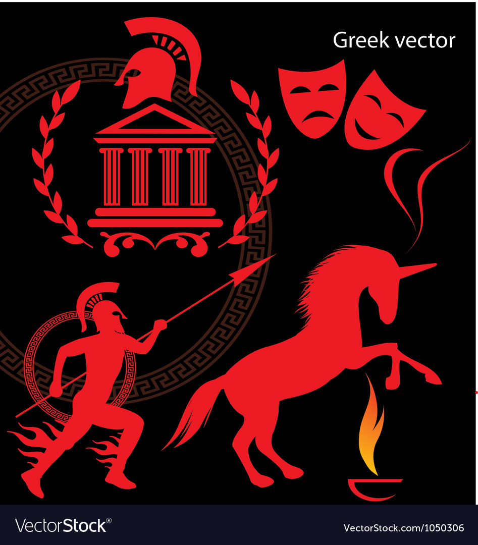 Greek vector