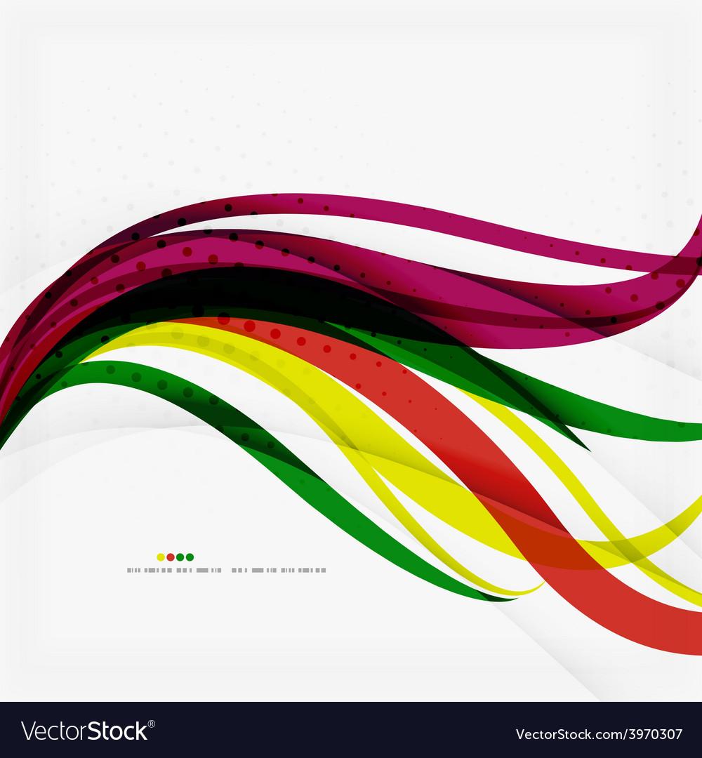 Rainbow color wave stripes vector