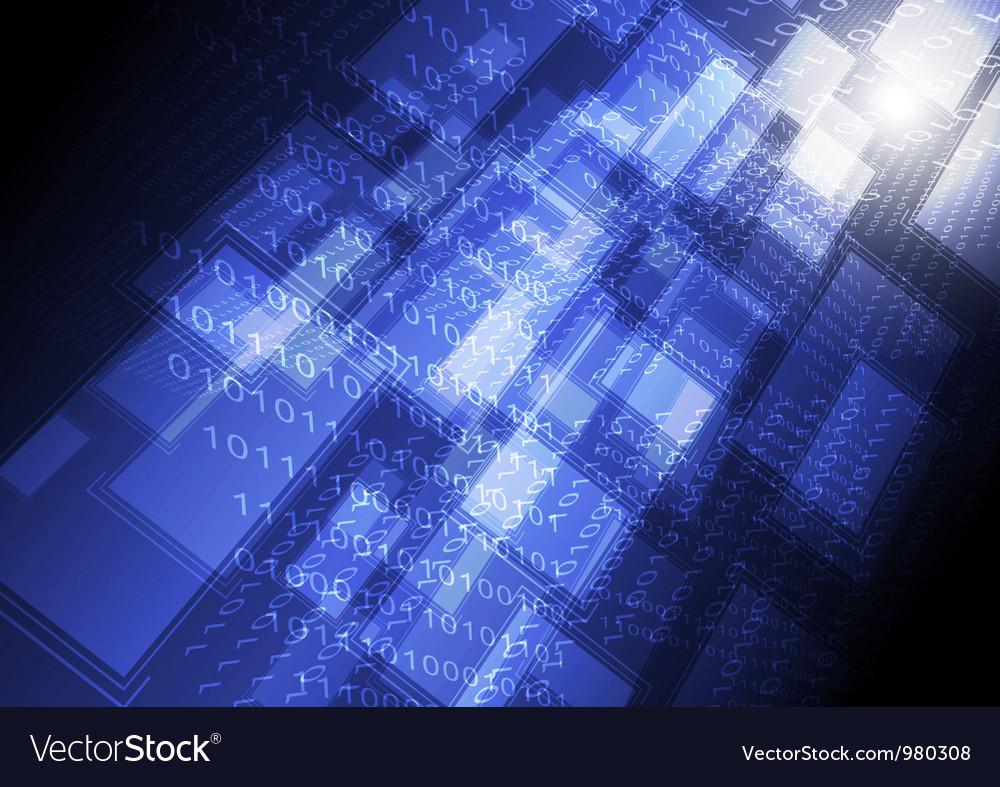 Computer transferring data background vector