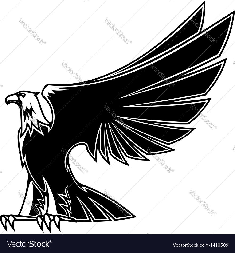 Powerful and majestic eagle vector