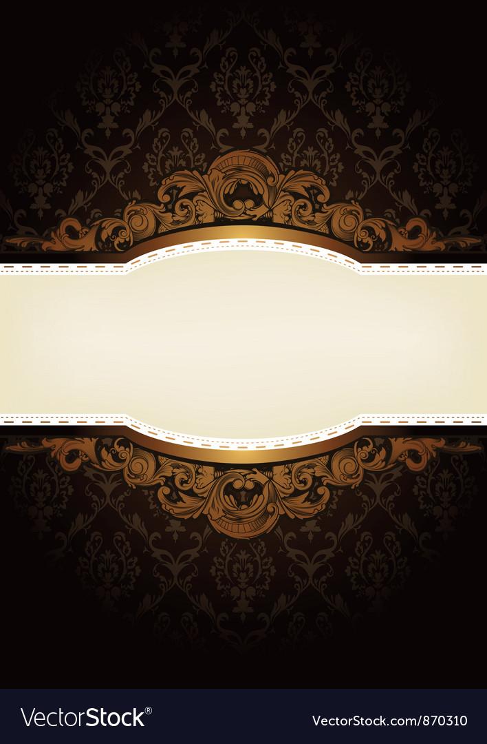 Elegant engraved background vector