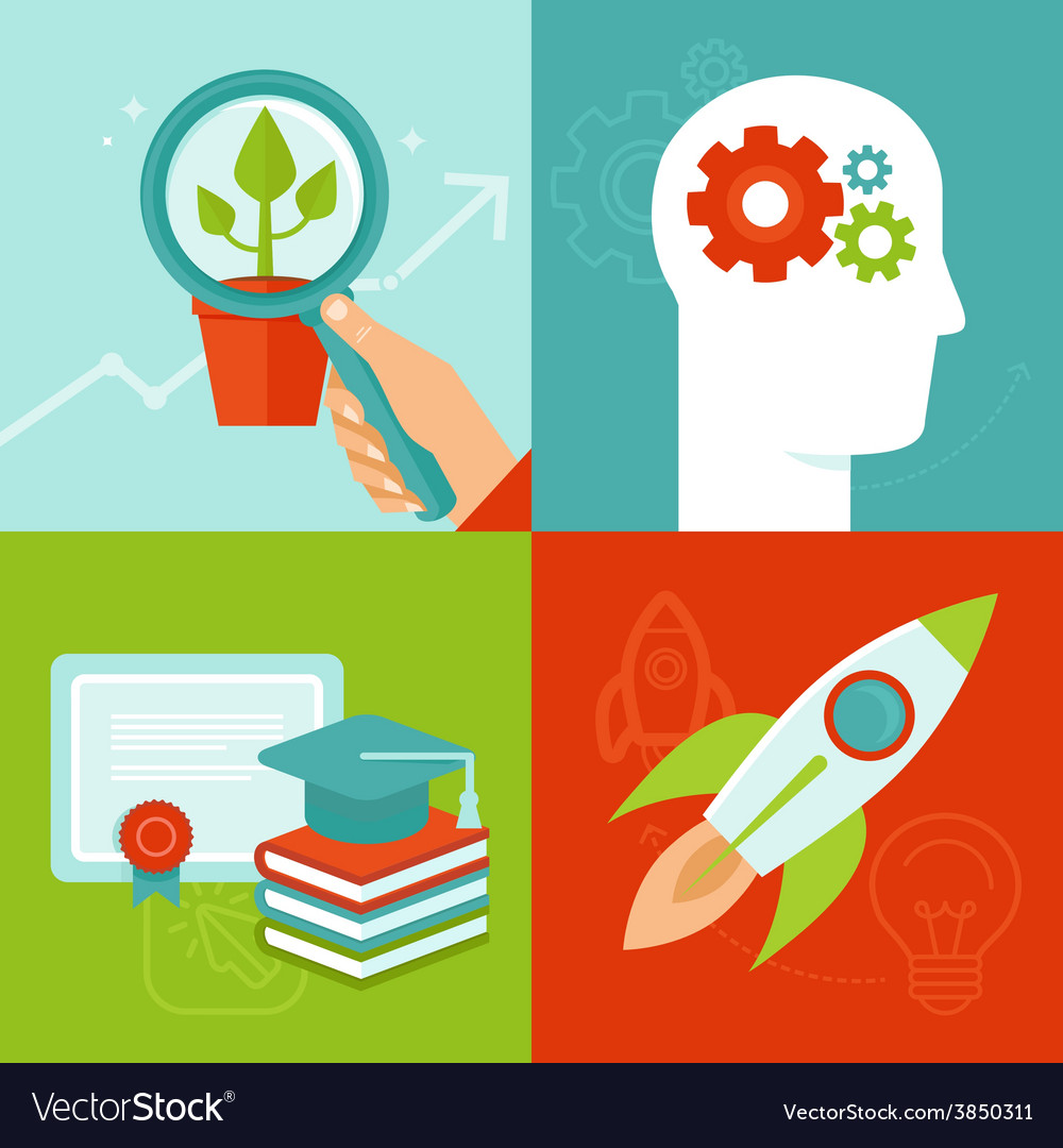 Personal development concepts in flat style vector