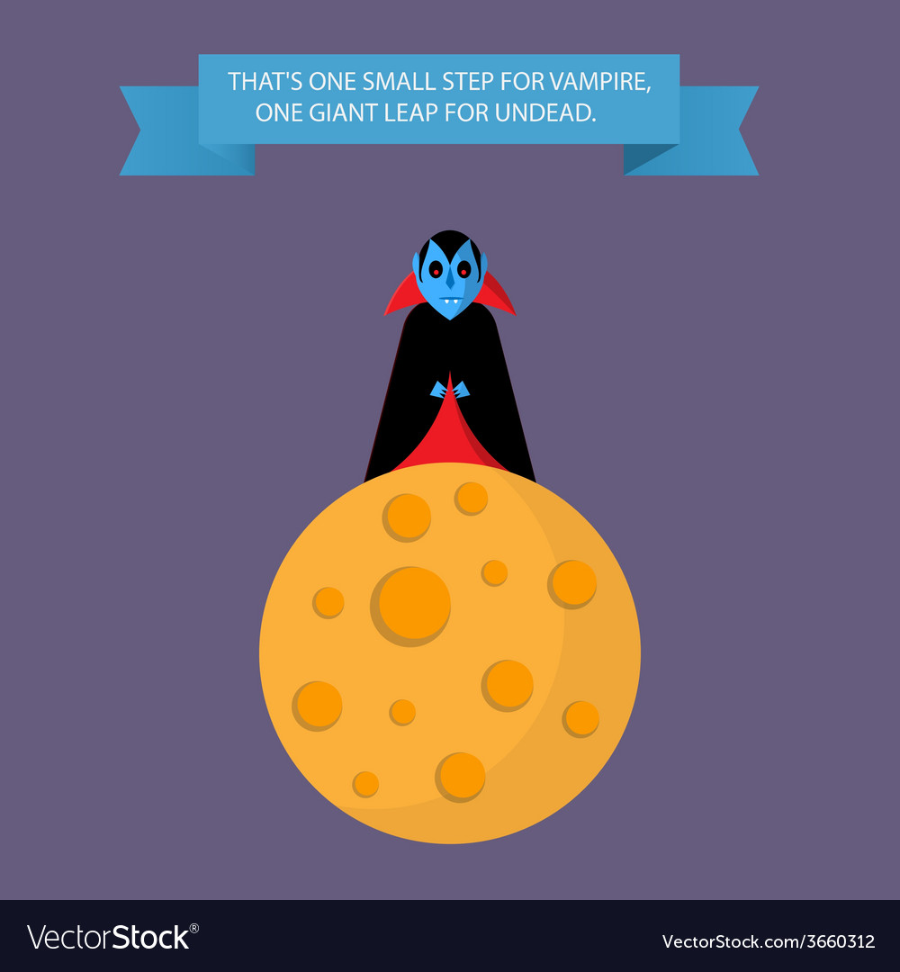 Vampire on the moon vector