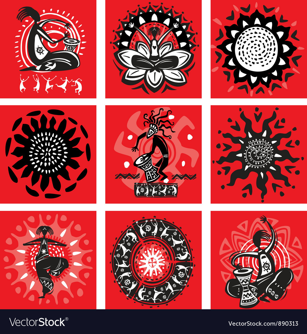 Ethnic motifs vector