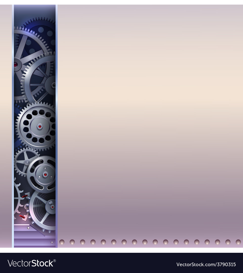 Abstract background with gears vector