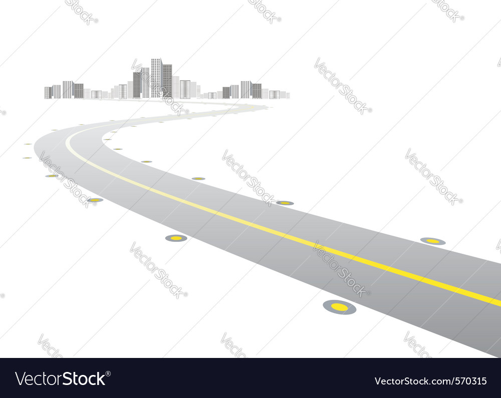 Road in the city vector