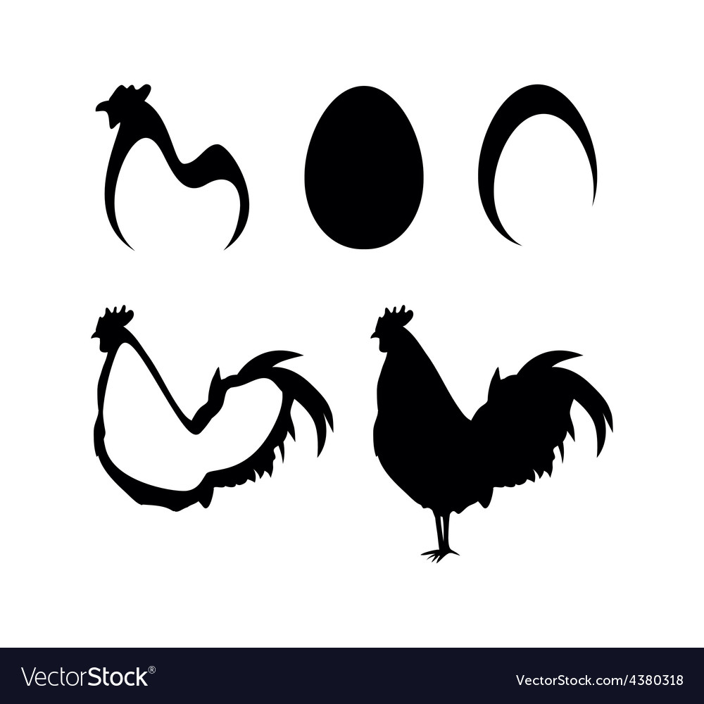 Chicken and farm icons vector