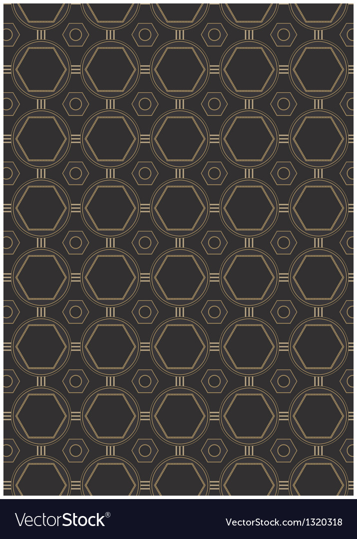 Seamless art deco style pattern vector