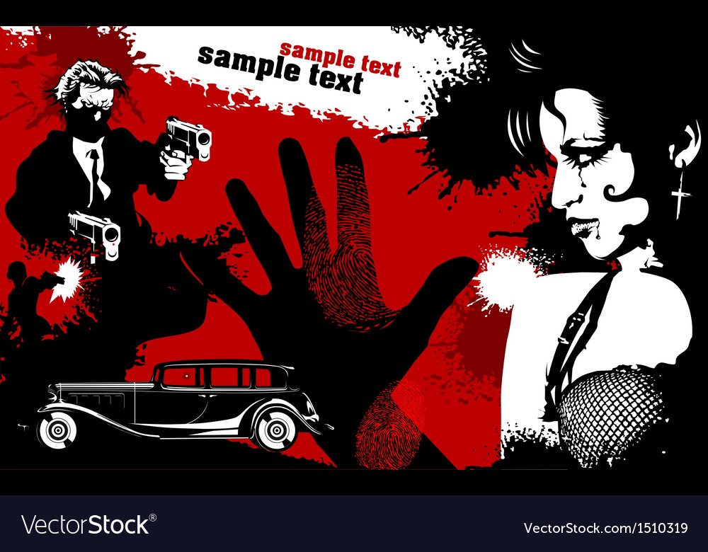 Criminal history movie poster vector