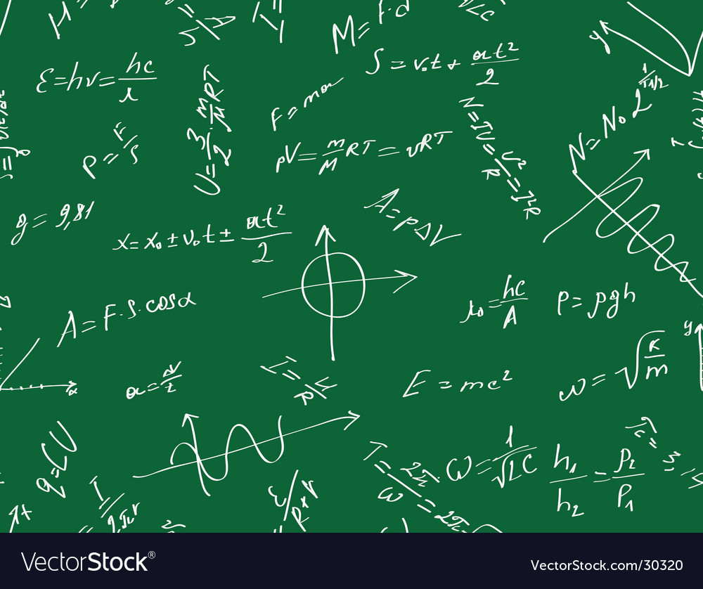 Background with physical formulas vector