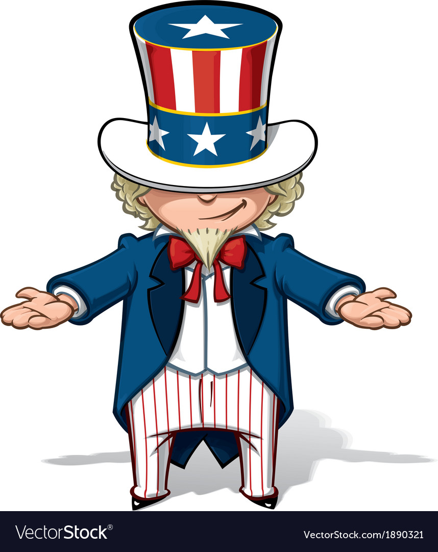 Uncle sam showing vector