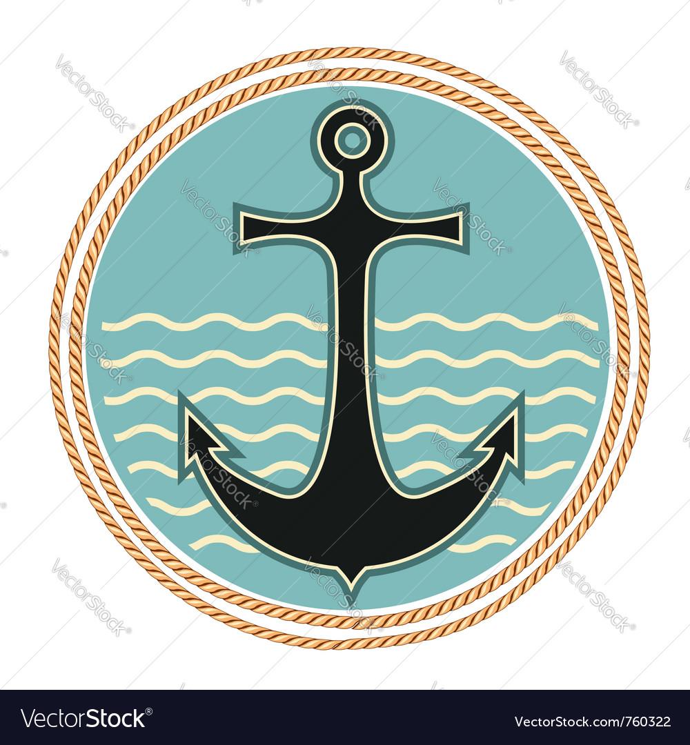 Nautical anchor symbol vector