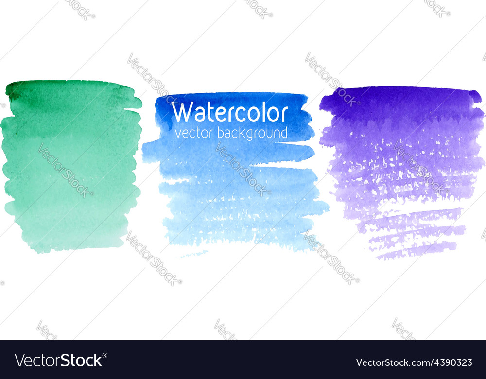 Set of abstract watercolor backgrounds vector