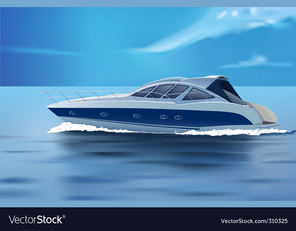 Luxury boat vector