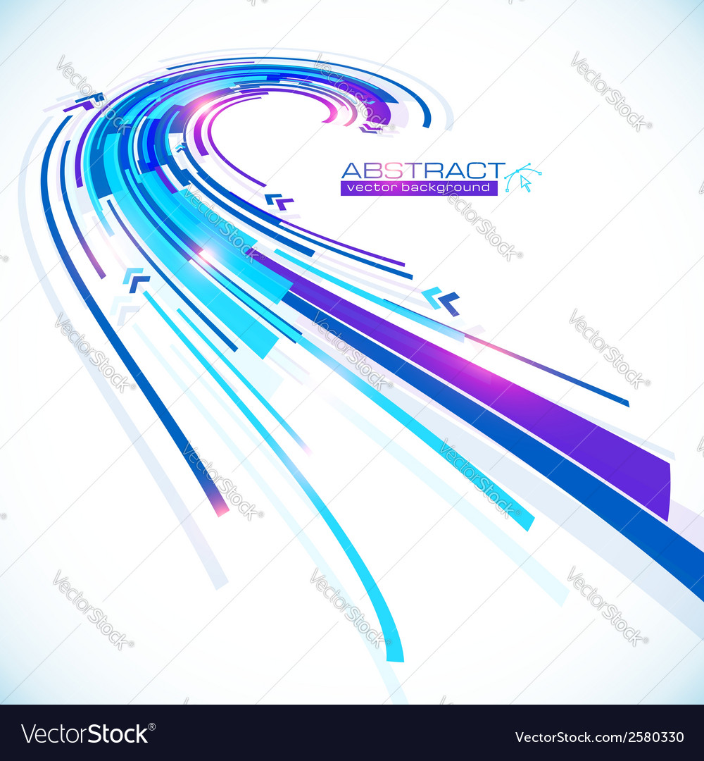 Blue abstract lines perspective background vector