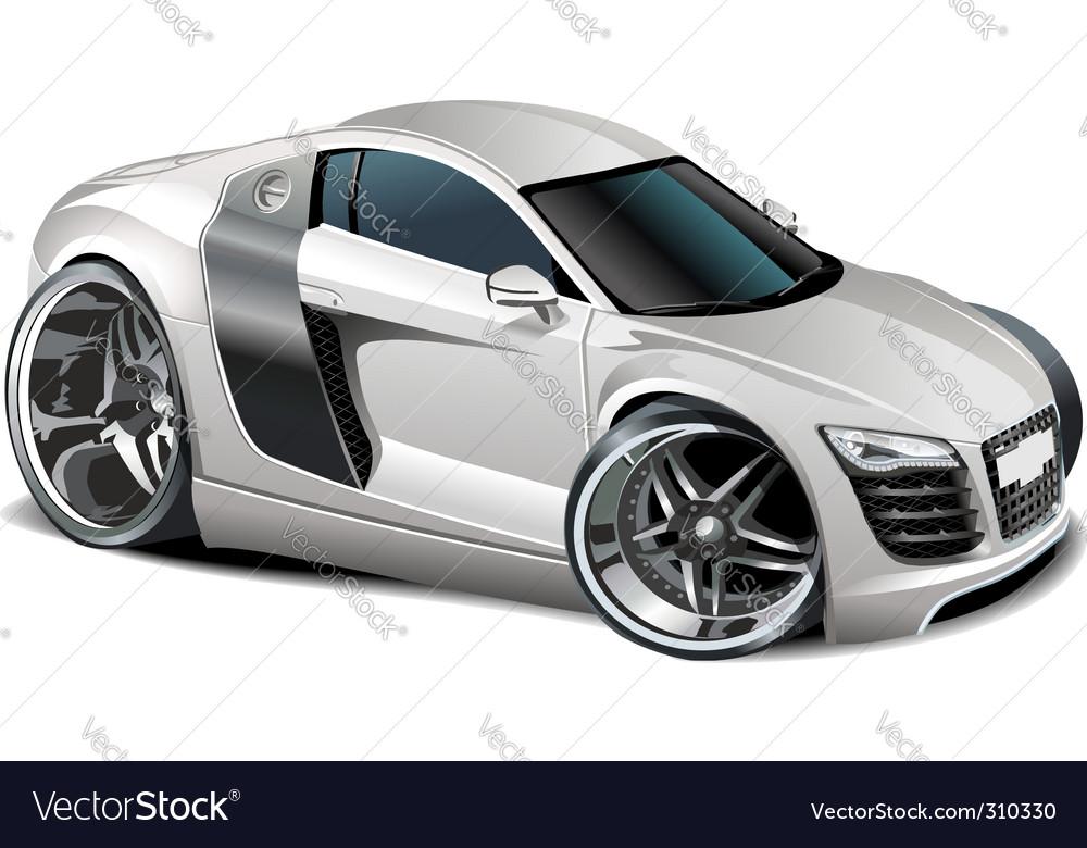 Modern cartoon car vector