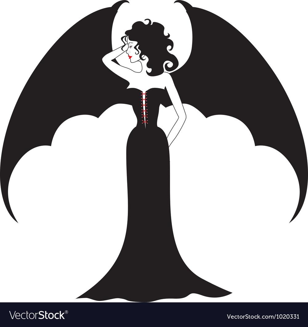 Vampire lady vector
