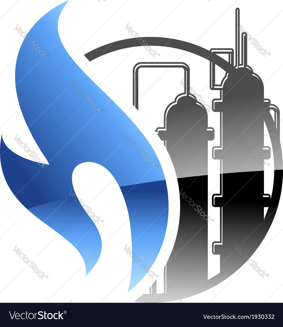 Petrochemical and gas industry vector