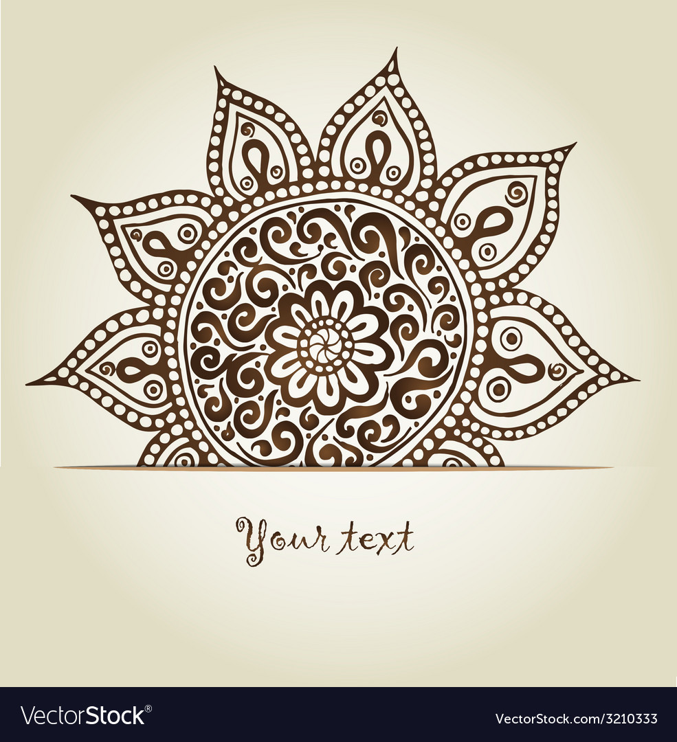 Beautiful vintage ornament mandala vector