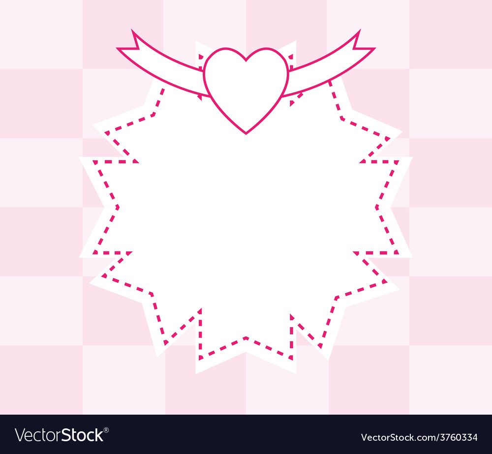 Pink abstract frame background vector