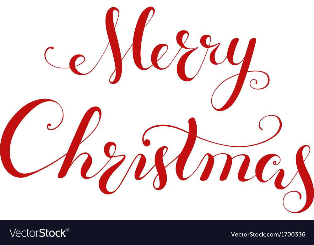 Merry christmas handwriting lettering vector