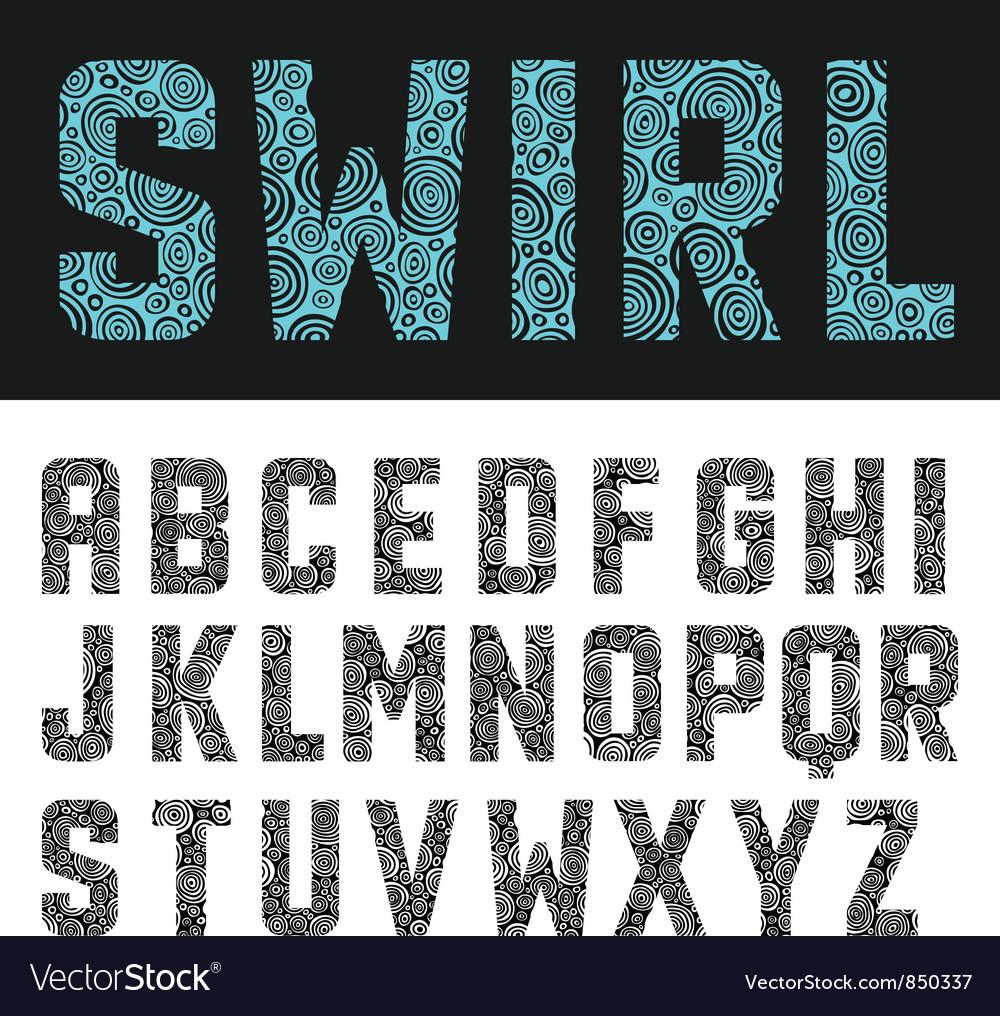 Abstract swirl alphabet vector