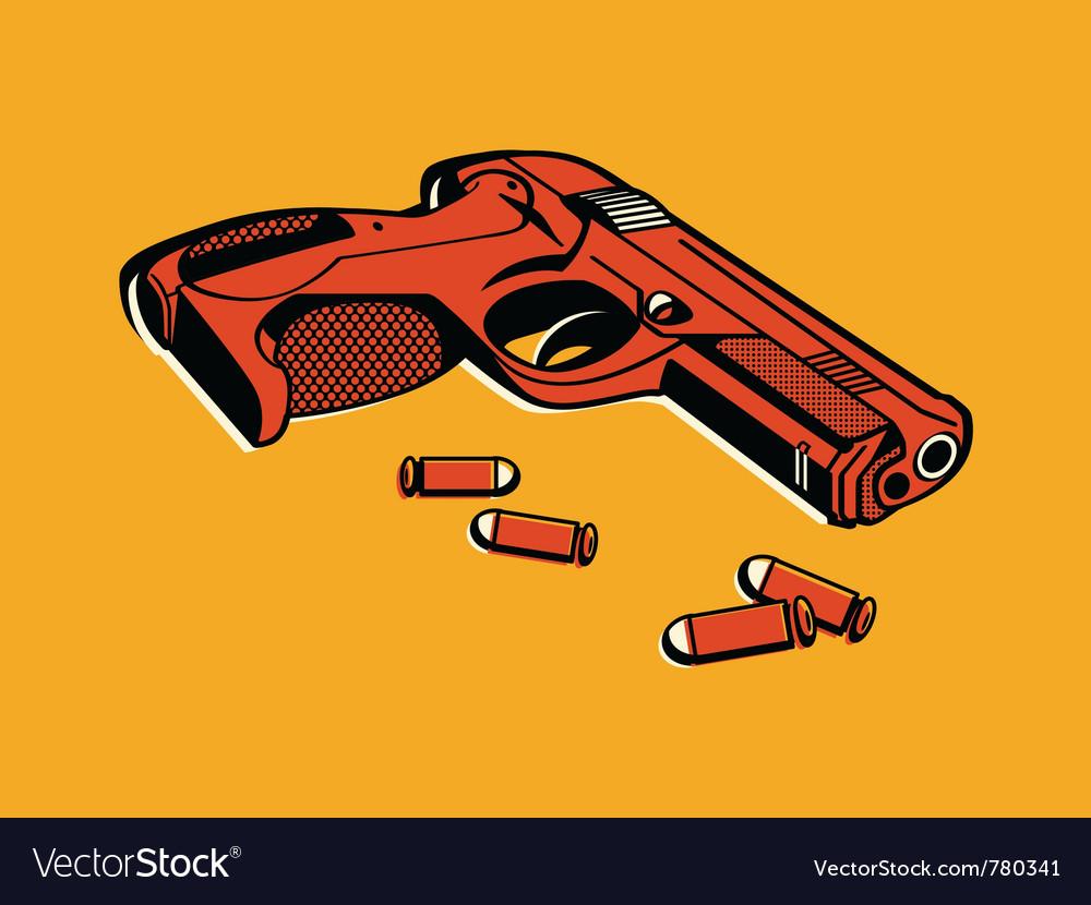 Retro gun vector