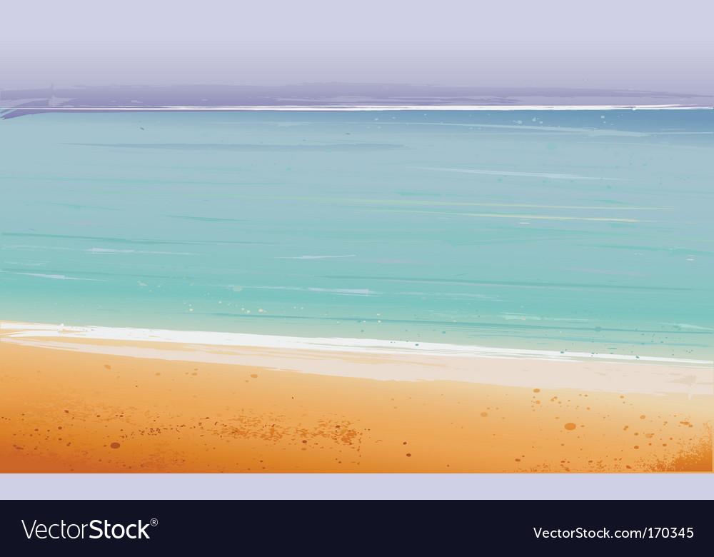 Summertime at the beach sea vector