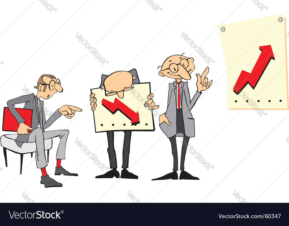 Cartoon businessmen vector