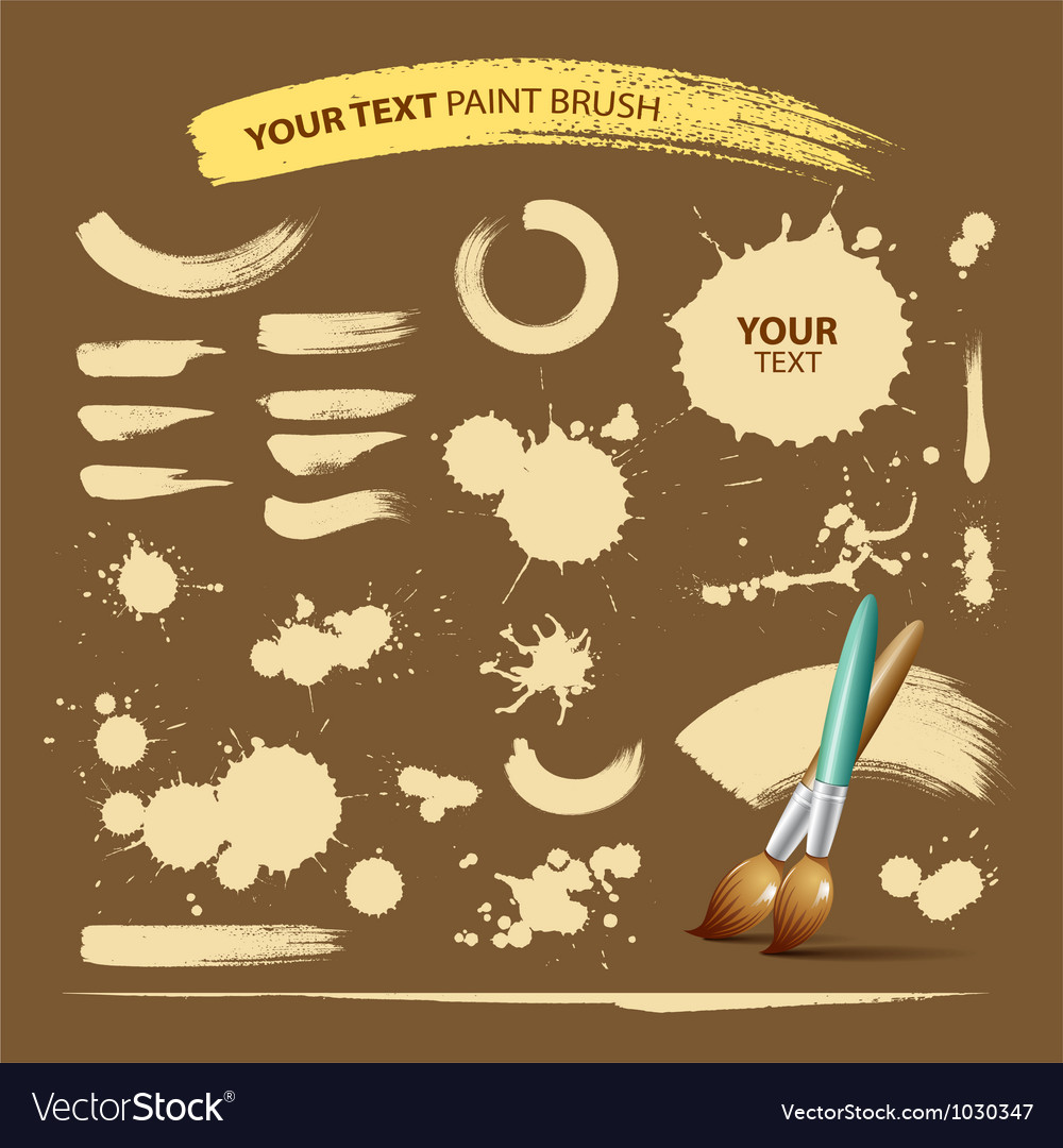 Paint brush vintage ink texture background vector