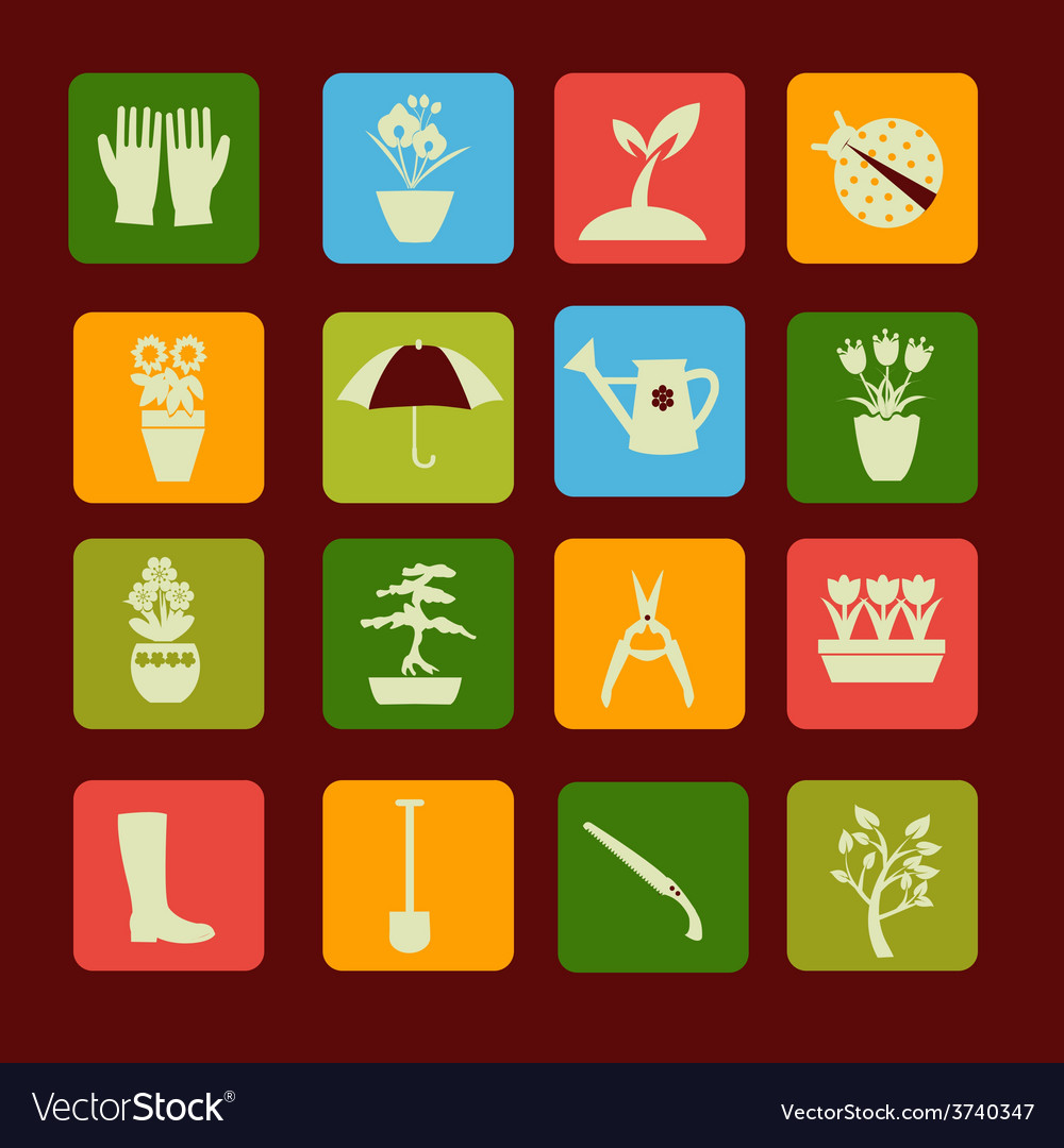 Spring symbol gardening and vector
