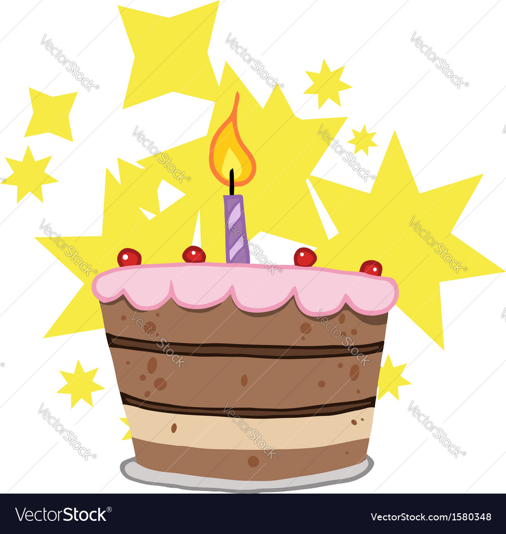Birthday celebration cartoon vector