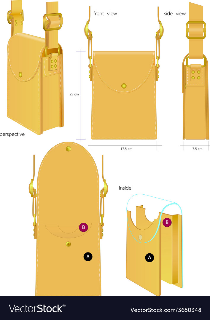 Leather bag vector