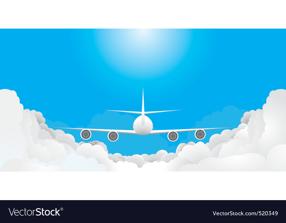 Plane is flying vector