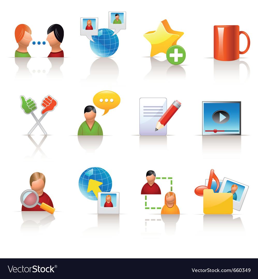 Social media icons vector