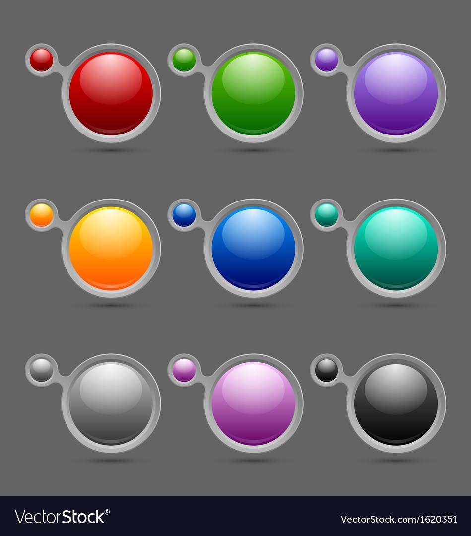 Button or icon template bubbles vector