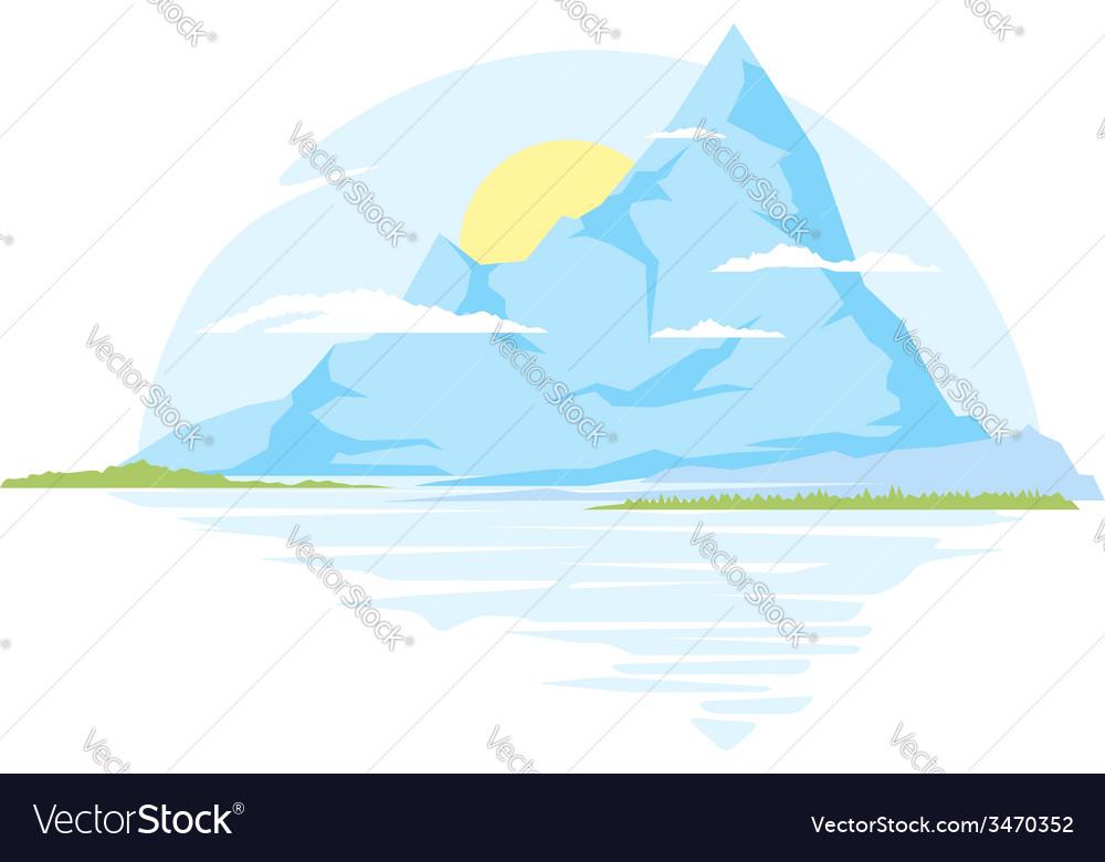Big mountains vector
