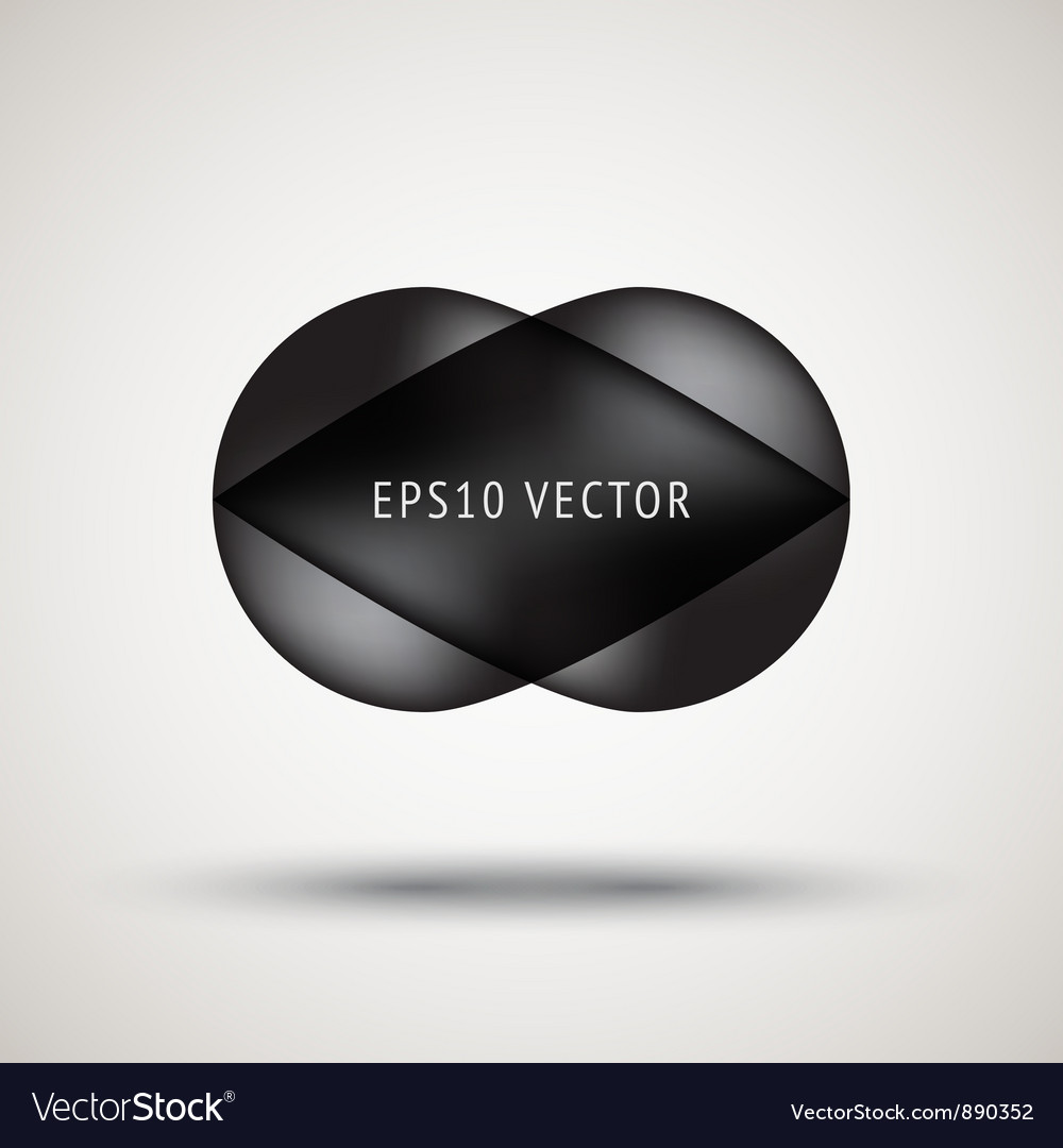 Luxury black bubble badge vector