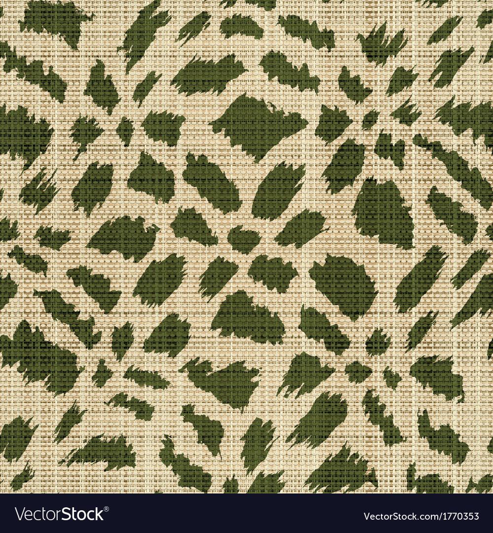 Rough textile print vector