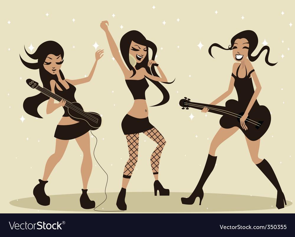 Rock group vector