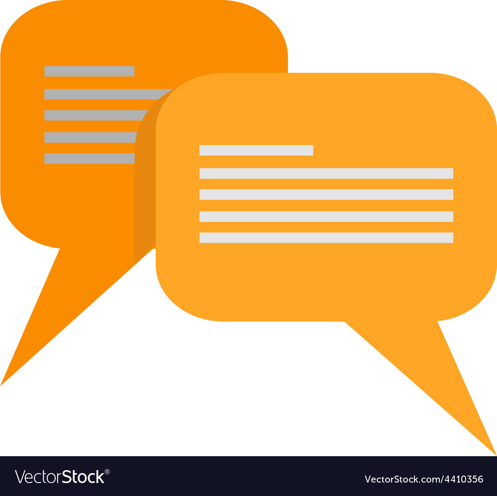 Message bubbles vector