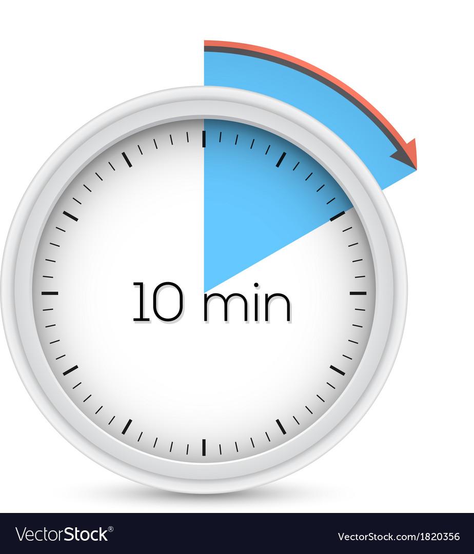 Ten minutes timer vector