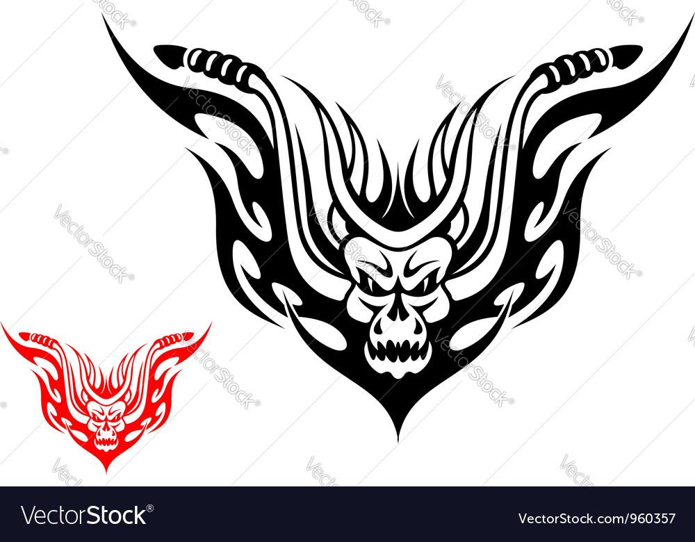 Tribal biker motorcycle tattoo vector