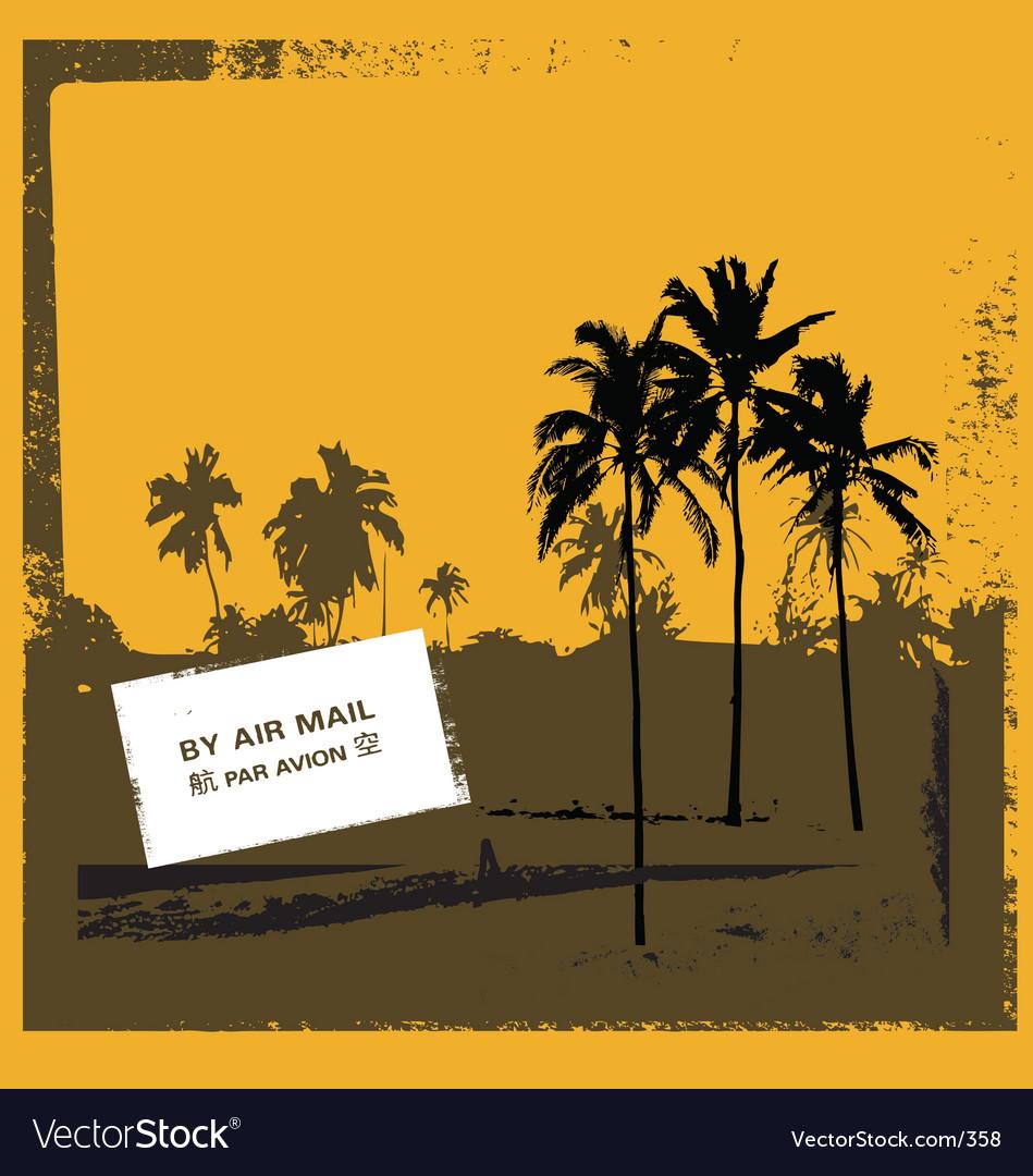 Grunge tropical scene vector