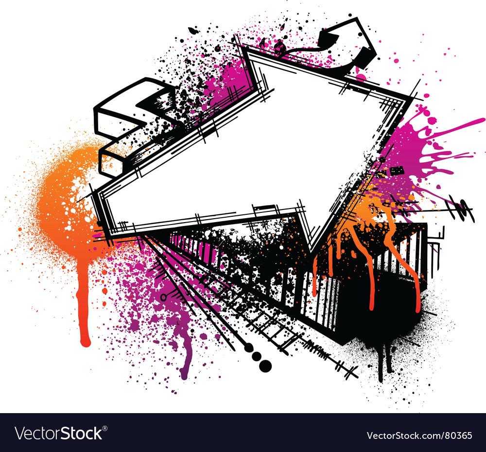 Graffiti arrow background vector