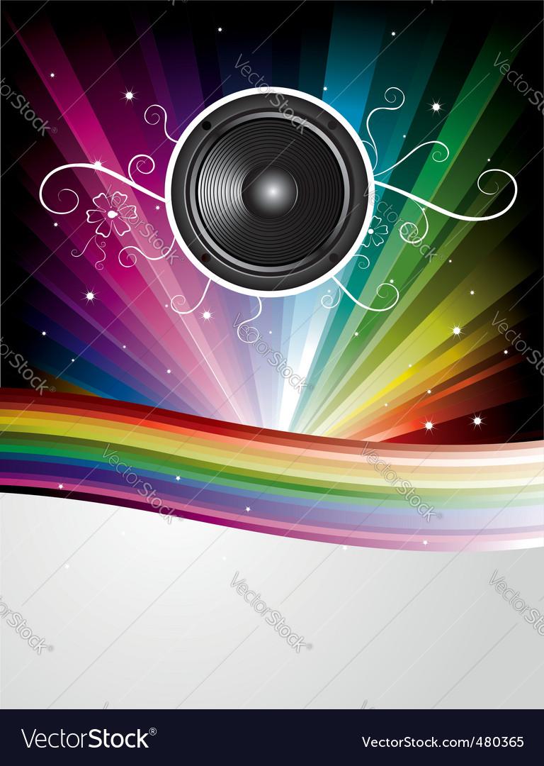 Rainbow disco background vector