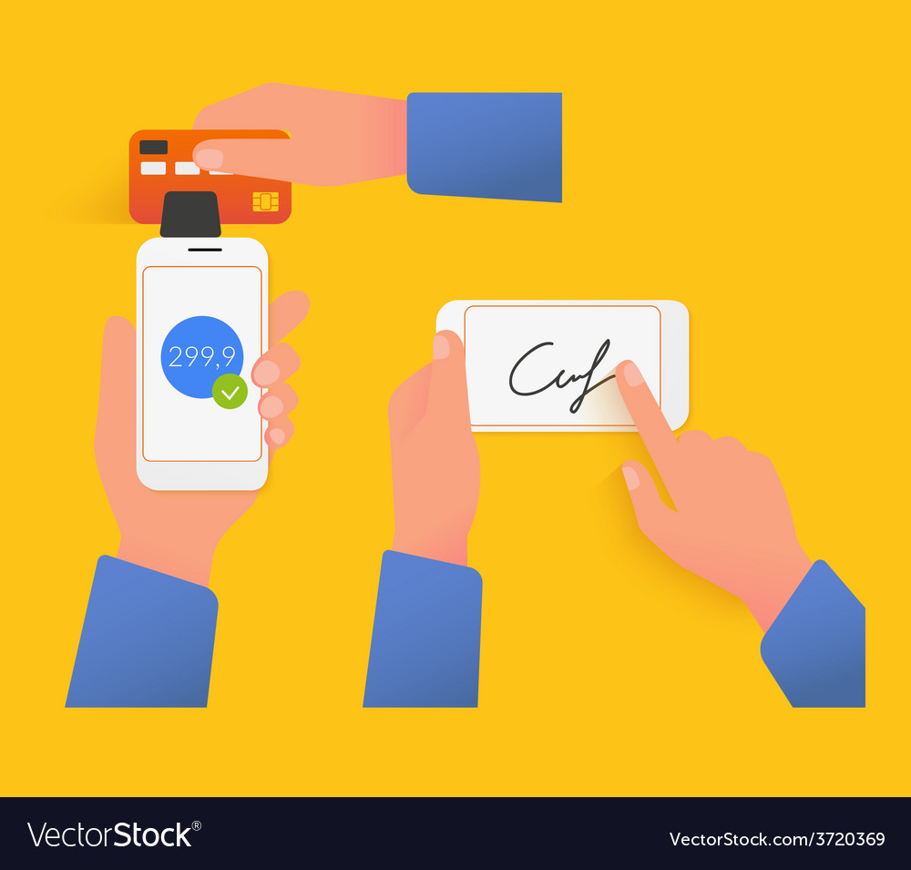 Mobile acquiring with signature vector
