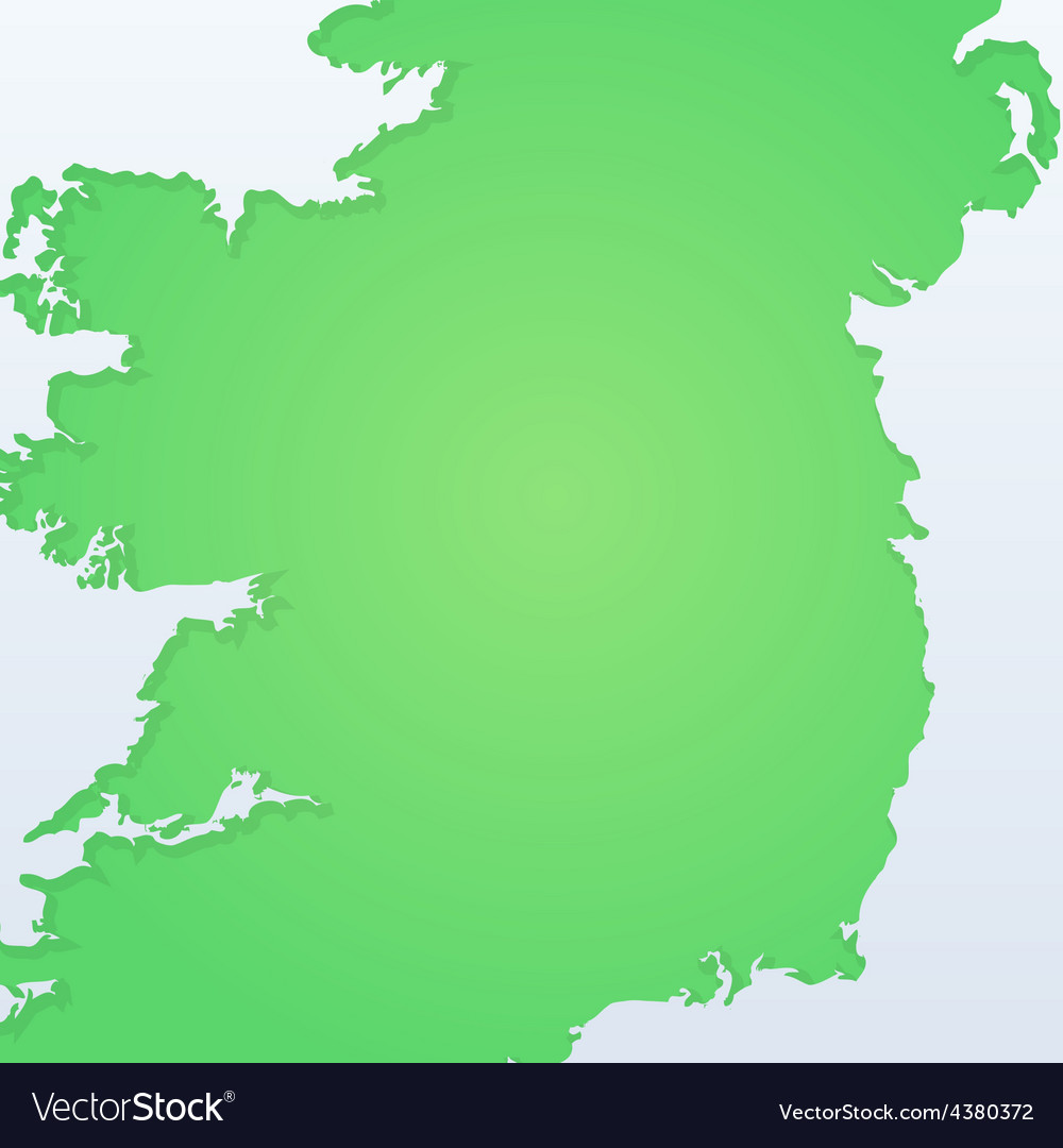 Background with silhouette of ireland vector