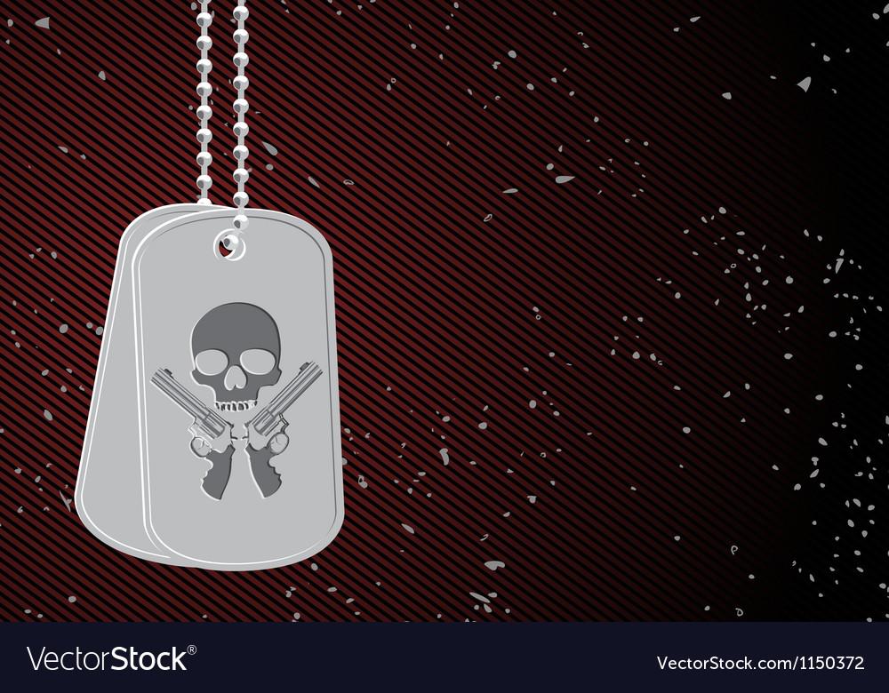 Military dog tags vector