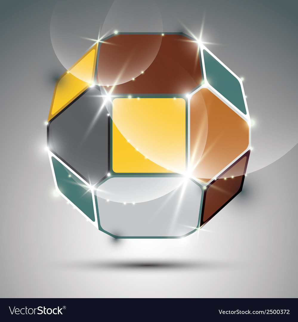 Party dimensional colorful sparkling globe with vector
